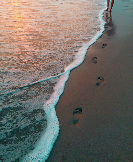 Sunset Footsteps